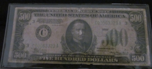 1934-A $500 Bill - Bank of Philadelphia