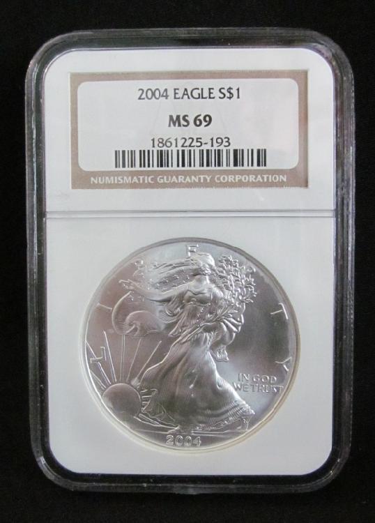 2004 American Silver Eagle MS69