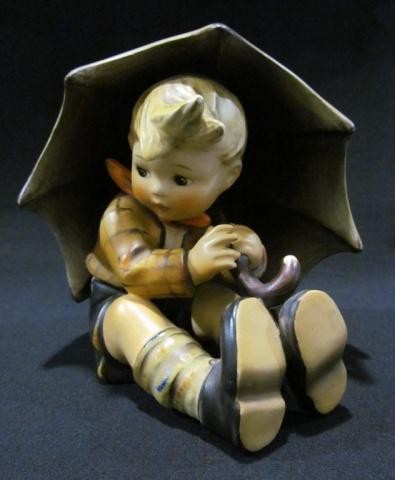 Hummel Figurine - Large Boy with Umbrella
