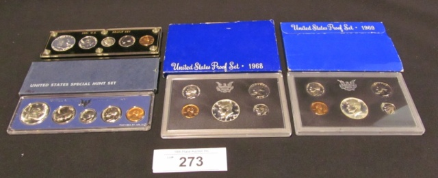 (4) U.S. Proof Sets - 1961, 1966, 1968, 1969
