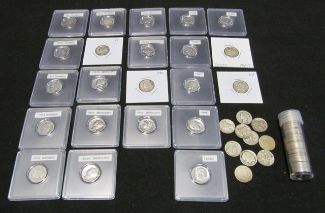 Collection of Dimes - Mostly Barber & Mercury