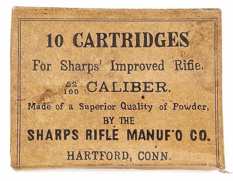 Sealed box of Sharps 52/100 cartridges
