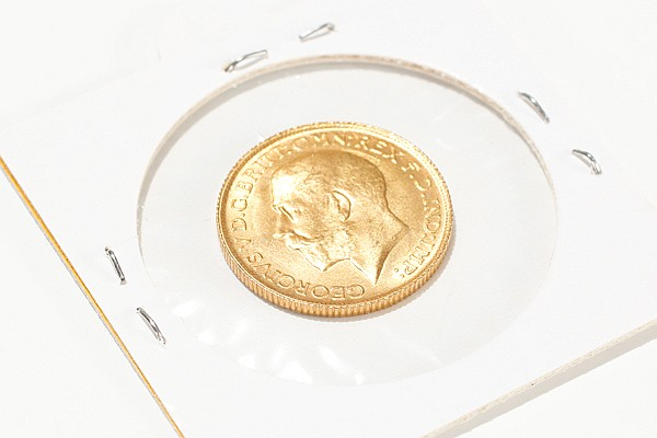 22k Gold St. George Coin;