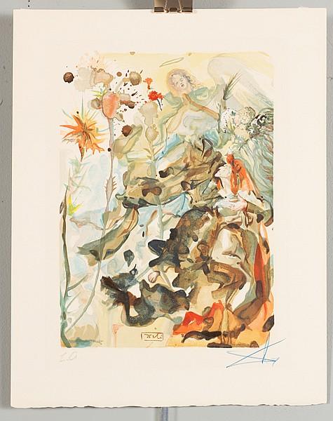 Salvador Dali, (Spanish; 1904-1989), ''Chant 27: Gloria Patri'',
