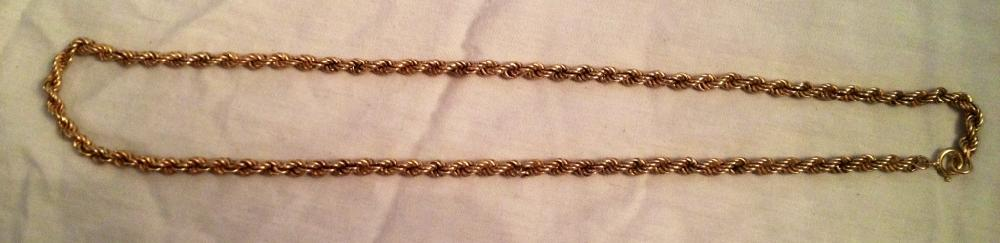 14K 585 ITALIAN GOLD ROPE NECKLACE 17.5G