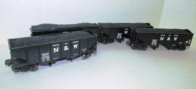 Four N&W Coal Hauler Cars