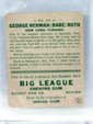 Babe Ruth NY Yankee Baseball Card