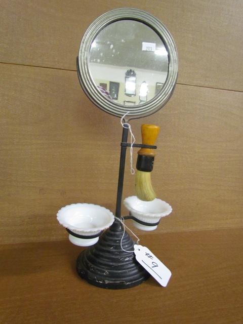 19th Century Tabletop Shaving Mirror