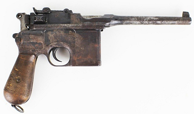 MAUSER 7.63mm C96 BROOMHANDLE SEMI-AUTO PISTOL