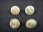 4 Beautiful Authentic Confederate Infantry Buttons Same Coat