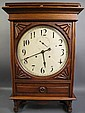 SETH THOMAS OAK LARGE DIAL LOBBY CLOCK. With 15