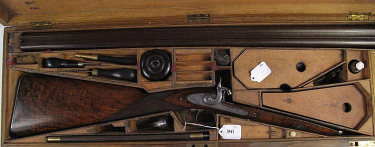 ALEXANDER HENRY CASED 12 GA. DOUBLE-BARREL