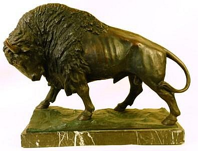 ATTRIBUTED TO PIERRE ANDREE. (European, 20th century). Bronze sculpture of an