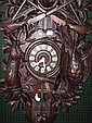 BLACK FOREST CUCKOO CLOCK. Nicely carved bone