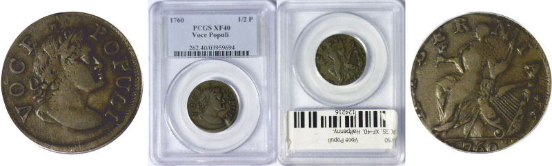 1760 Colonial Coinage