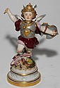 "MEISSEN PORCELAIN FIGURE OF ST. GEORGE, LATE 19TH C., H 8"", W 5 3/4"""