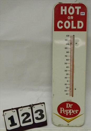 "Red/White ""Hot or Cold Drink Dr. Pepper"" Thermometer"