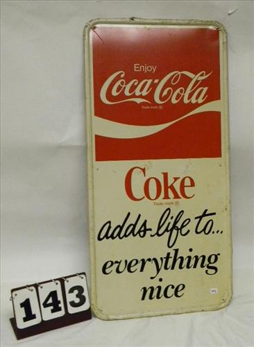 "Enjoy Coca Cola/Coke ""adds life to…everything nice"""