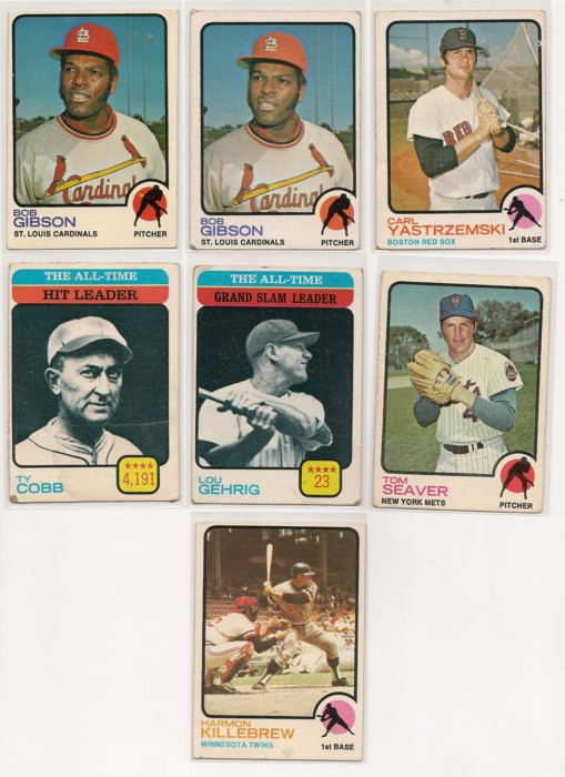 1973 Topps Baseball Lot