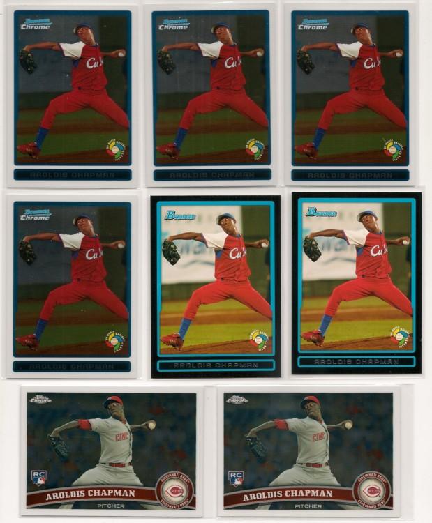 Lot of 8 Aroldis Chapman cards