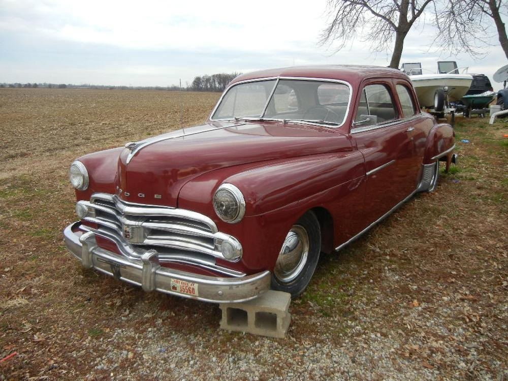 1950 Dodge 2 Door Coupe Runs, Has No Brakes, Extra Transmission Parts, Solid Body, Flathead 6 Engine All Original Parts, Interior Needs Work, Clear Title