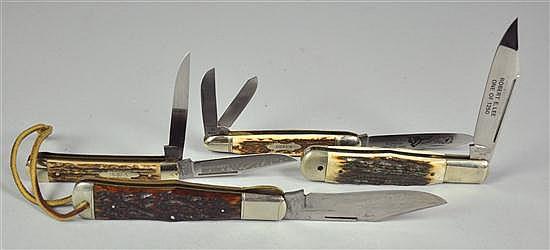 Four Folding Knives