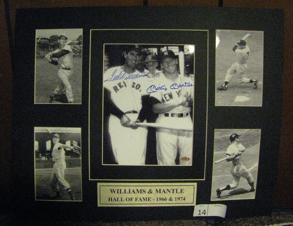 WILLIAMS & MANTLE 20X16 AUTOGRAPHED MAT