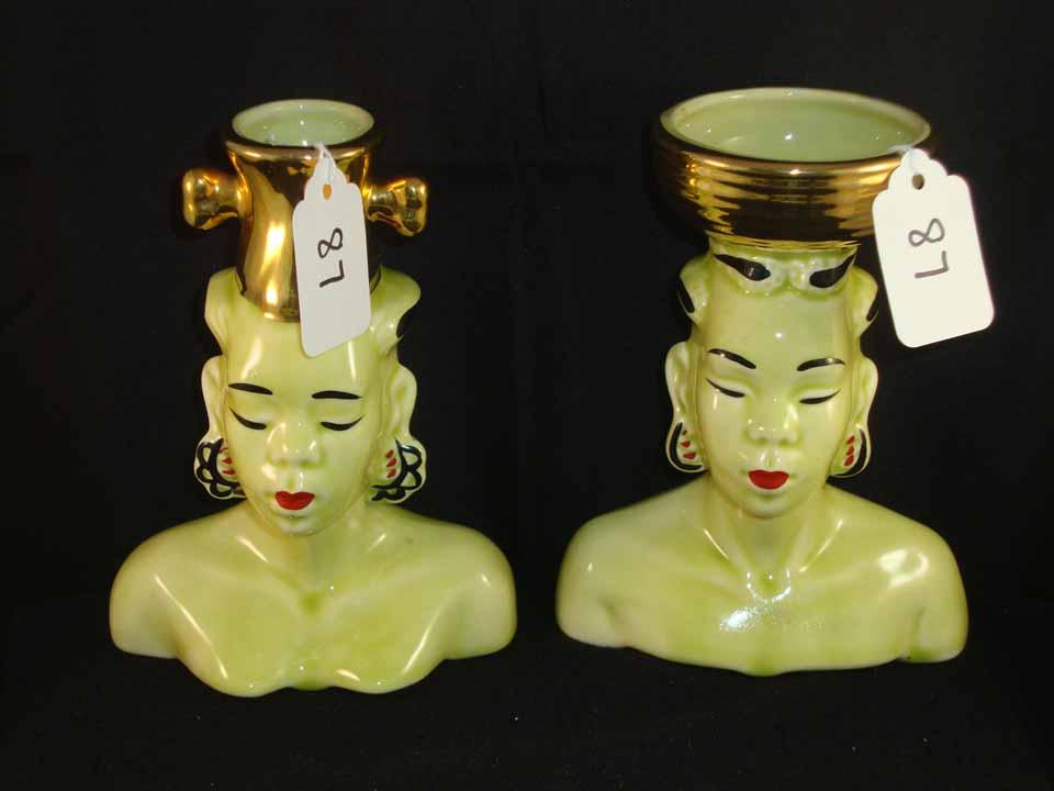 (2) Head Vase