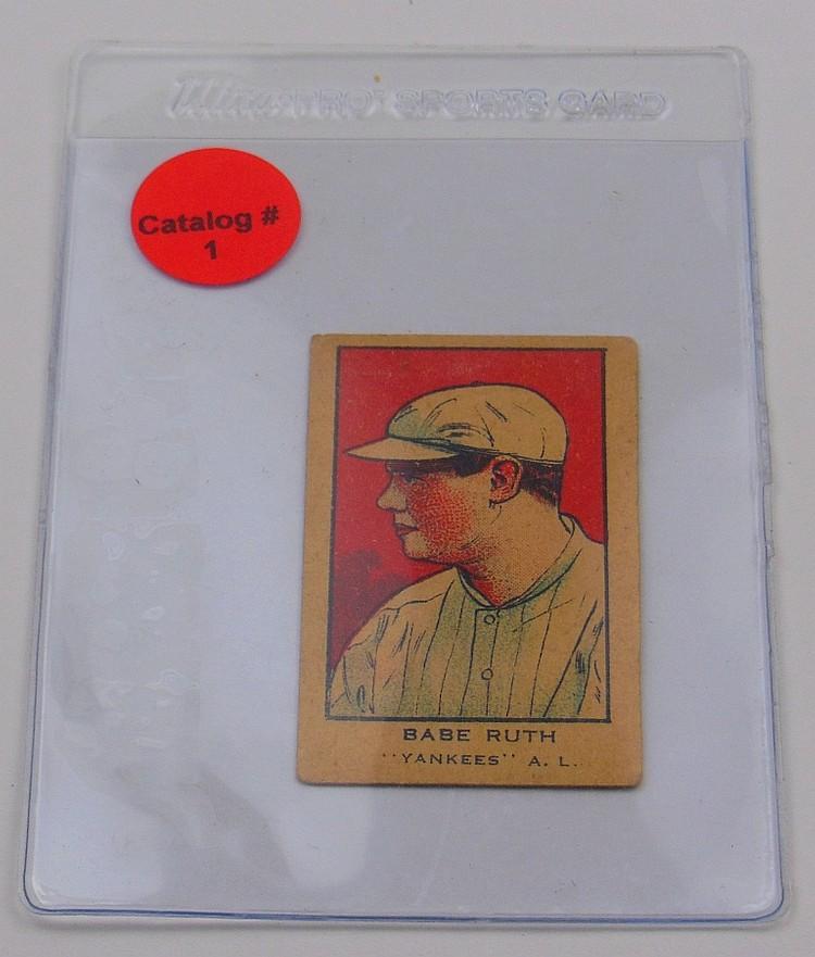 1920'S BABE RUTH STRIP CARD
