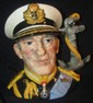 "Royal Doulton Large Toby Character Jug D6944 ""Earl Mountbatten"" Ltd #372 of 5000, w/COA, EC"