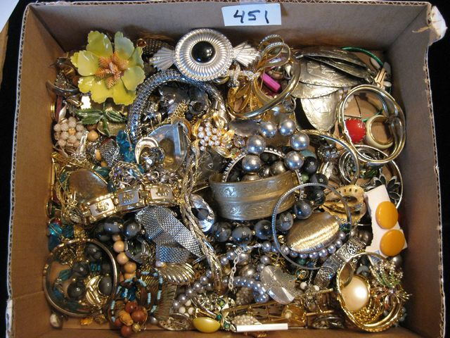 5 lb. Box of Jewelry