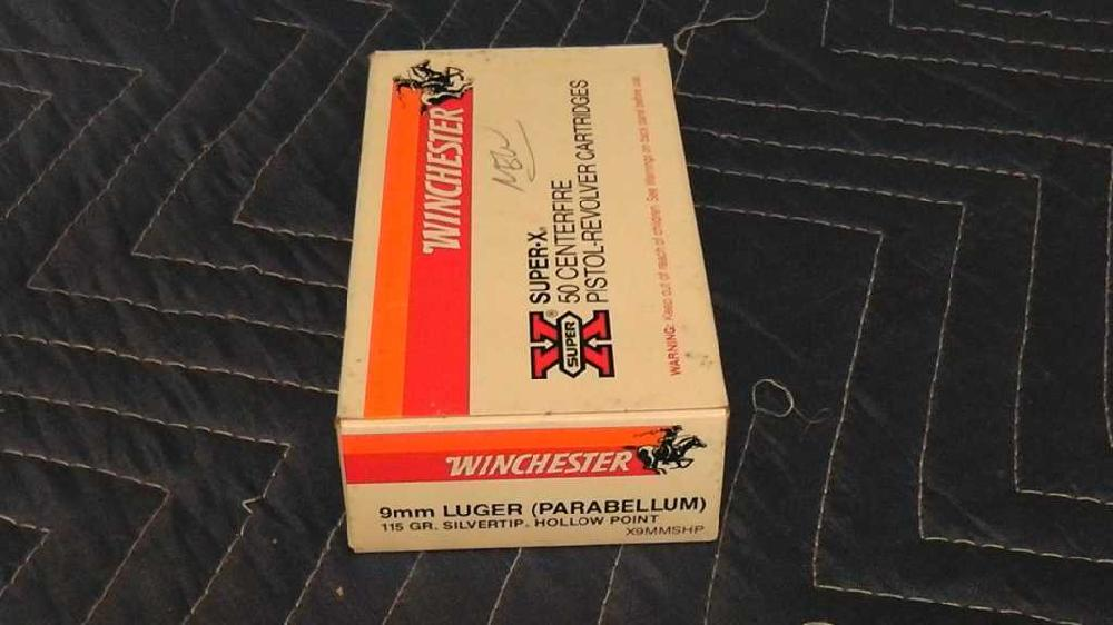(1) Box Winchester 9mm Luger 115 gr. Silvertip Hollow Point