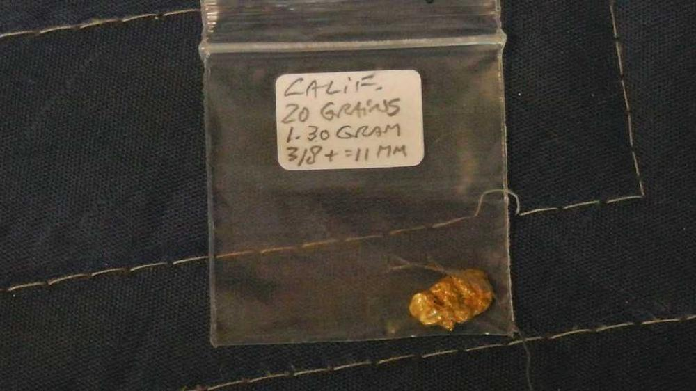 Gold Nugget California, 20grains, 1.30grams, 11mm :)