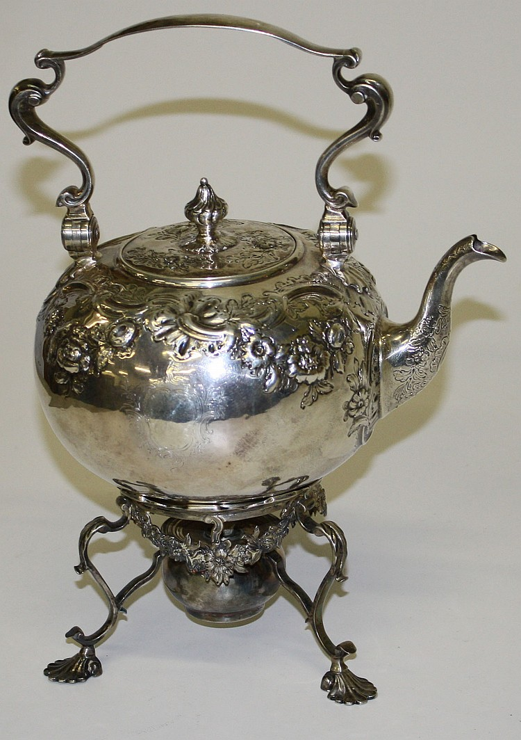 Magdeline Feline 1755-1756 London silver tea