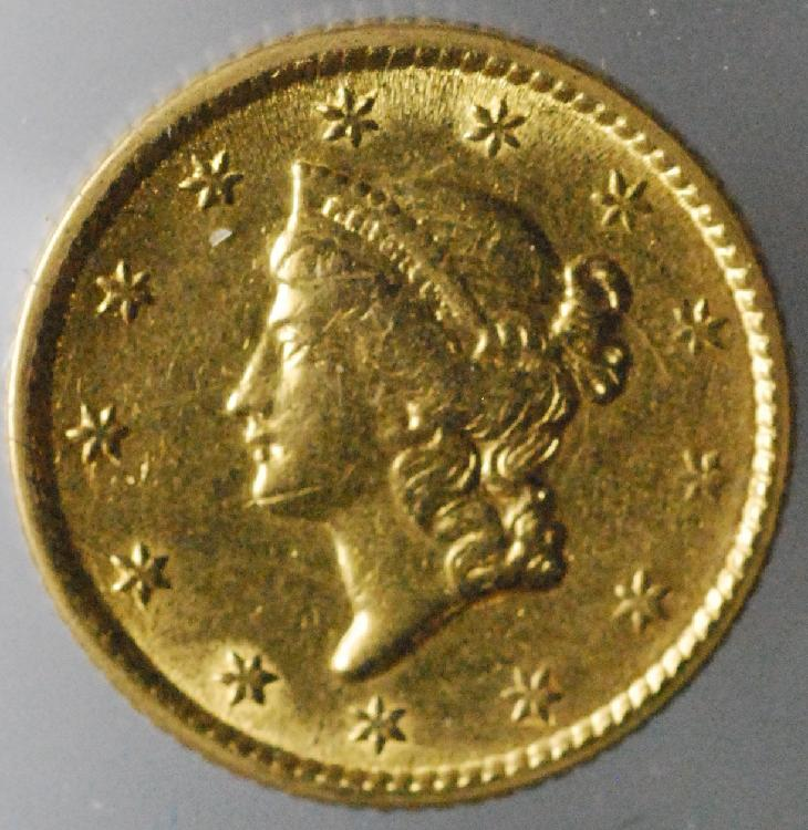 1853 United States $1.00 Gold