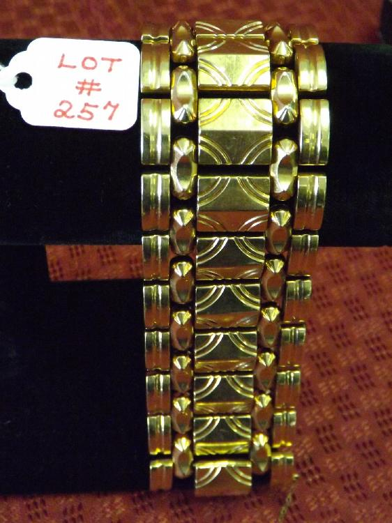 "Ladies 14k Yellow Gold Heavy Bracelet 7-1/2"" (46 Dwt)"