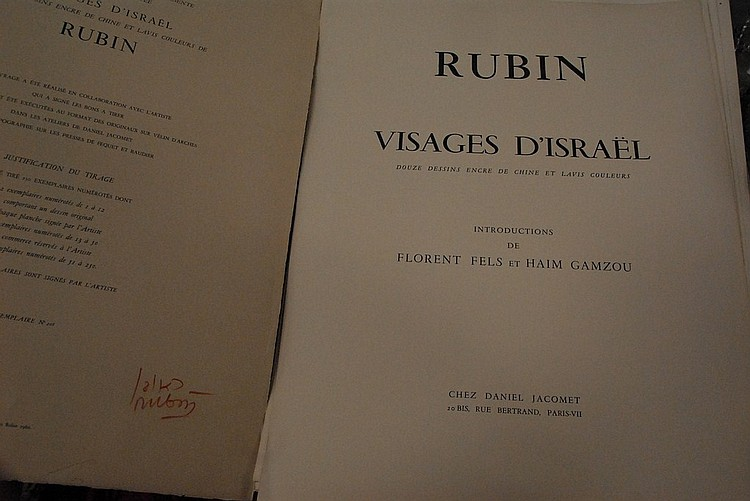 Large folio marked Rubin Visajes d'Israel.