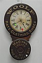 "Woolf Hats, Clothing, Shoes Madison & Halsted Sts. Chicago ILL advertising clock by Baird Clock company Plattsburgh NY, ht 30 1/2""."