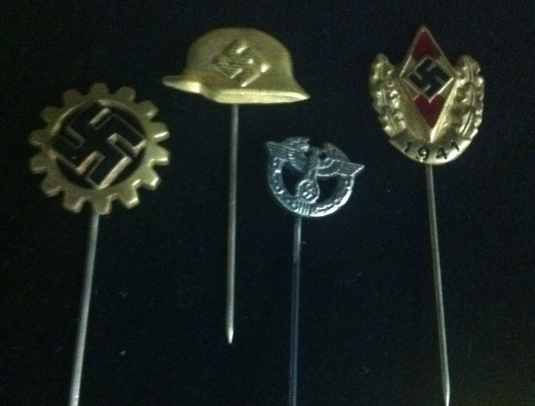 Lot of 4 Nazi Stickpins