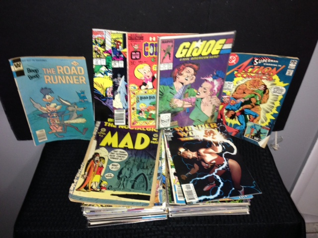 Large collection of over 60 Vintage Comic Books