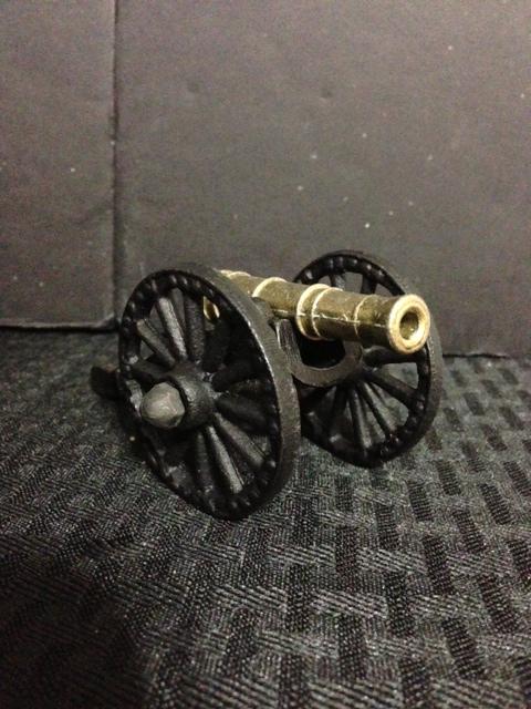Cast Iron Wagon Wheel Black Powder Cannon