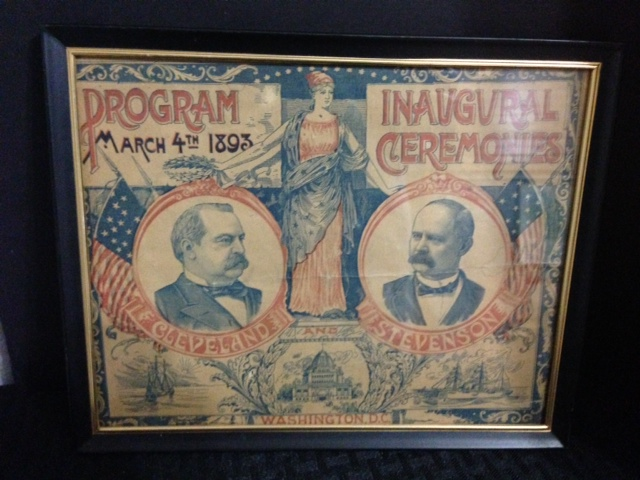 1893 Inaugural Ceremonies Program From D.C