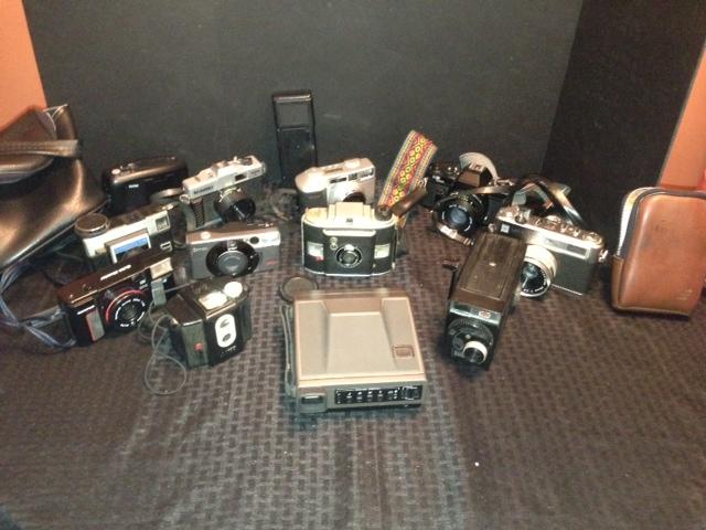Huge Lot of 13 Vintage Cameras plus accessories