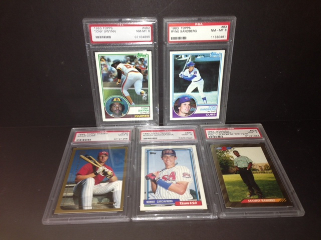 Lot of 5 PSA Graded Baseball Rookie Cards