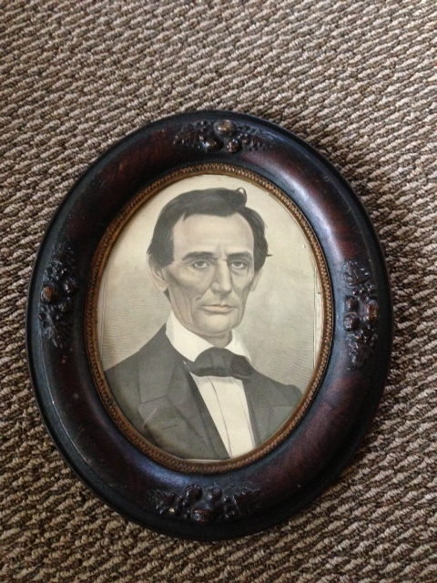 Genuine Antique Circa 1800's Abraham Lincoln Litho