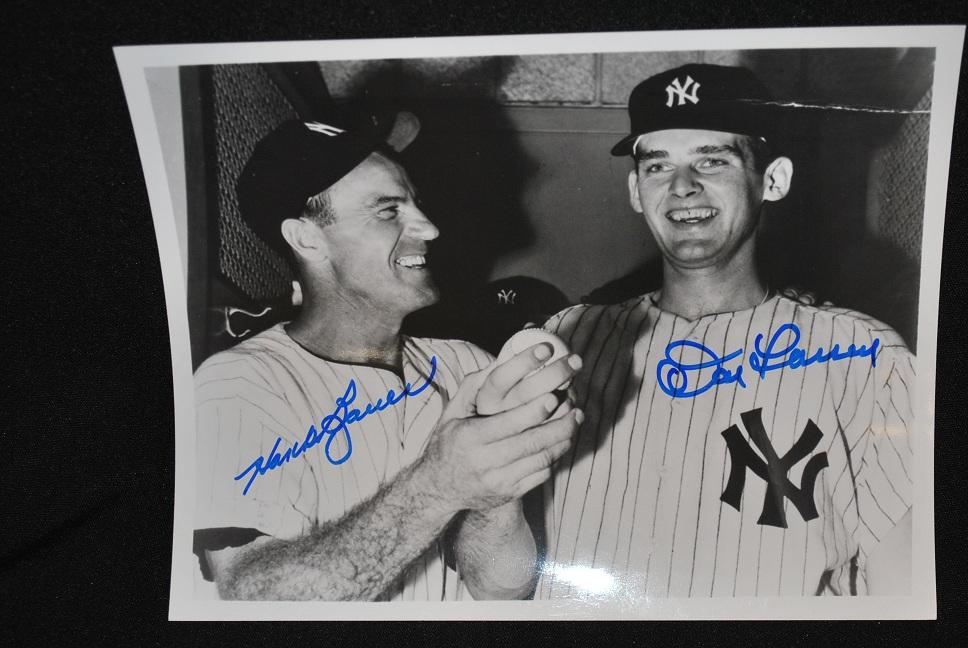 Don Larsen & Hank Bauer Signed Photo