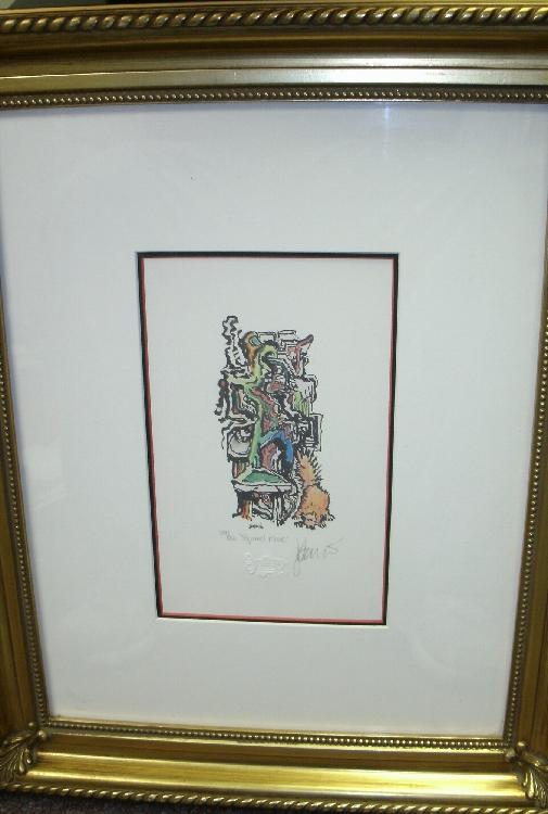 Jerry Garcia hand signed Lithograph