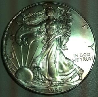 1999 UNC Silver Eagle