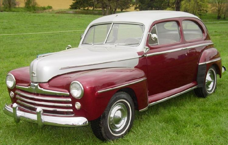 1948 Ford Super Deluxe two door sedan, flat head V8, 3 speed trans, restored