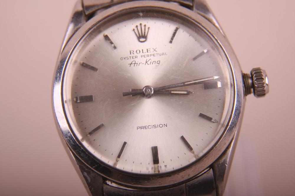 MENS ROLEX AIR KING OYSTER PERPETUAL PERCISION